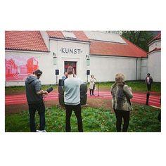 As of today the new #entrance of #KunsthalAarhus invites people to literally run into art  #shapedcanvastrack #runningtrack #sport #art #landmark #opening #vernissage
