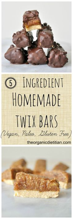 5 ingredient homemade twix #glutenfree #vegan #paleo