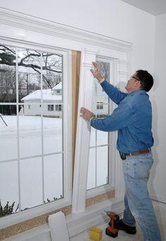 molding between windows