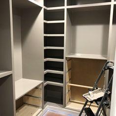 DIY Custom Closet - IKEA TARVA & IVAR HACK - Handmade Weekly Diy Custom Closet, Custom Closet Design, Bedroom Closet Design, Master Bedroom Closet, Custom Closets, Closet Designs, Ikea Tarva Hack, Ivar Hack, Closet Hacks