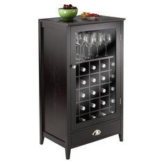 Winsome Bordeaux Wine Cabinet 25-Bottle Slot Modular - 92455