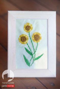 Hand Embroidery  Sun Flower Stitching Pattern