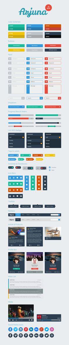 Arjuna UI Kits on Behance