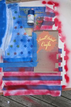 No Sew DIY Fourth of July Spray Paint Tank Top | Small Detail Crafts