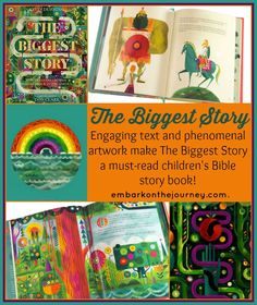 Engaging text and phenomenal artwork make The Biggest Story a must-read children's Bible story book. | embarkonthejourney.com