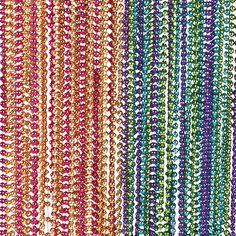 Metallic Neon Beaded Necklaces - OrientalTrading.com