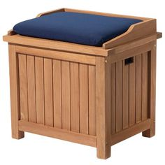 High Quality Teak Deck Box (Small) A Great Place To Store Smaller Items Such As Lanterns