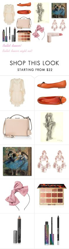 """For musicfreakofnature (friend) - musicfreakofnature's ideal wardrobe by me: Ballet dancer!"" by sarah-m-smith ❤ liked on Polyvore featuring Alice McCall, Saint-Honoré Paris Souliers, Mark Cross, Trademark Fine Art, Larkspur & Hawk, tarte, Burberry, Urban Decay and Lipstick Queen"