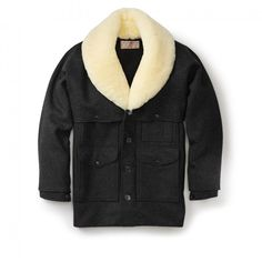 Wool Packer Coat - Charcoal - 38