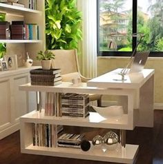 Executive Office Desk White High Gloss Computer PC Table Home Corner Study Unit for sale online Student Office, Office Shelf, Executive Office Desk, White Desk Office, Home, White Corner Computer Desk, Corner House, Office Desk, Modern Corner Desk