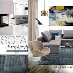 Sofa Styling by szaboesz on Polyvore featuring interior, interiors, interior design, home, home decor, interior decorating, Louis Poulsen and H&M
