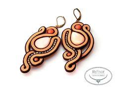 Soutache earrings Koronis by RebarJewelry on Etsy