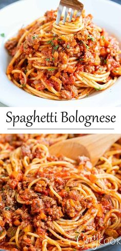 This Spaghetti Bolognese recipe is full of delicious meaty flavor and is so easy to make It s perfect for a quick weekday dinner or an indulgent weekend meal Plus it s freezer-friendly Pasta Recipes, Chicken Recipes, Cooking Recipes, Recipes For Spaghetti, Dinner Recipes, Spaghetti Bolognaise, Cannelloni, Giada De Laurentiis, Orzo