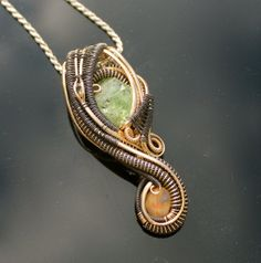 Outlaw Series / tsavorite garnet opal and by TendaiDesigns on Etsy, $360.00
