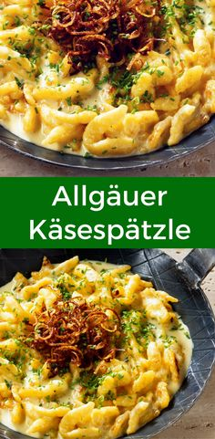 Cheese spaetzle is not only available in Swabia, but also in the Allgäu. Here you can read the recipe for the hearty classic. Cheese spaetzle is not only available in Swabia, but also in the Allgäu. Here you can read the recipe for the hearty classic. Lunch Recipes, Pasta Recipes, Chicken Recipes, Dinner Recipes, Skirt Steak Recipes, Pork Chop Recipes, Cheese Spaetzle, Crispy Oven Fried Chicken, Seared Salmon Recipes