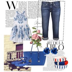 """blue and jeans"" by dahliafahrian on Polyvore"