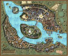 Feyerlun-Fantasy City Map by AvalPenworth.deviantart.com on @deviantART