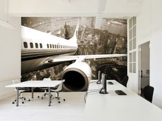 Striking Large Scale Wall Murals Adding New Dimensions to a Room