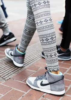 Dunks & tights. #style #nike