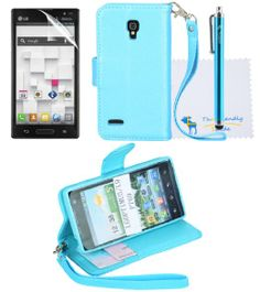 Amazon.com: The Friendly Swede 2 in 1 Silk Pattern PU Leather Folio Stand Wallet Case for LG Optimus L9 P769 (T-Mobile) Only + Stylus + Scre...