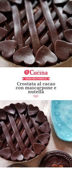 I'm guessing a mascarpone and Nutella pie with chocolate crust. It's in Italian so hopefully Google can translate!