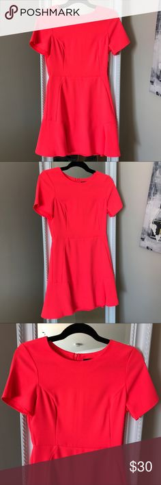 Topshop Bright Coral Dress Topshop Bright Coral Dress Topshop Dresses Mini