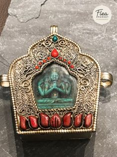 Chenresig (Avalokiteshvara) in ghau This Himalayan handcrafted Buddha pendant in ghau box is adorned with semi-precious stones for that special occasion or even for daily wear. Buddha Buddhism, Tibetan Buddhism, Himalayan, Facebook Sign Up, Daily Wear, Special Occasion, Zen, Online Shopping, Meditation