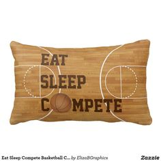 #compete #basketball #court #pillow