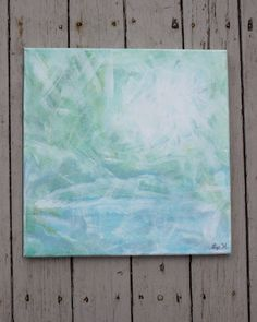 Ocean's Web Original Soft Blue and Green Painting