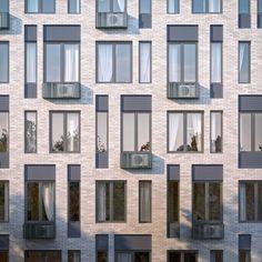 Многофункциональное здание с жилыми и нежилыми помещениями на шоссе Энтузиастов. Фрагмент 3 корпуса. Проект, 2015 © ADM