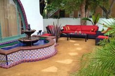 Mexican tile fountain by kristiblackdesigns.com