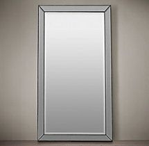 "Venetian Beaded Leaner Mirror 44""W X 4""D X 79""H; 101 LBS  $633 Restoration Hardware"