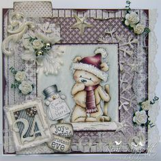 Cards By Kim: Ribbon Girl Card Challenge - Numbers......