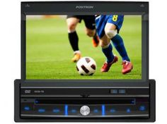 """DVD Automotivo Pósitron SP6700 Retrátil Tela 7"""" - TV Digital Entradas USB Auxiliar e p/ Câmera de Ré"""