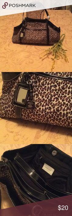 a153ba4dce Liz Claiborne leopard print bag. Good condition. Leopard print with plenty  of room and
