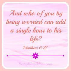 Do not worry - Matthew 6:27 #inspirational #Christian