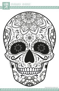 Skull Coloring Books for Adults - Skull Coloring Books for Adults , Coffee Table Mandala Coloring Book Kinokuniya Elephant Skull Coloring Pages, Adult Coloring Book Pages, Mandala Coloring, Coloring Books, Colouring, Small Skull Tattoo, Skull Tattoo Flowers, Sugar Skull Design, Sugar Skull Art