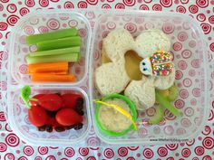 Ladybug and Flower Bento Sandwich Lunch - Little Bento Blog