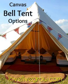 Canvas bell tent options for festival c&ing this year! & Exterior-of-bell-tents-at-B | TENTS | Pinterest | Tent Ireland ...