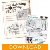 North Light Shop Coupon Codes: Grant Fuller Drawing Digital Value Pack
