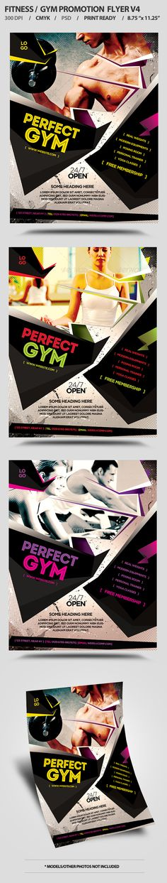 FitnessGym Business Promotion Flyer V  Promotion Gym And Business
