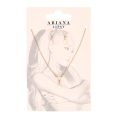Ariana Grande for Lipsy Earring and Necklace Set