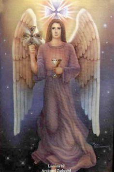 Archangel ZADQUIEL Angel Protector, 7 Archangels, Archangel Zadkiel, Michael Angel, Angel Spirit, Spiritual Prayers, Angel And Devil, Angels Among Us, Angel Cards