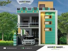 modern zen house plans philippines with 2 storey small residential house design with paint interior house grey with modern house designs small spaces Indian Home Design, Kerala House Design, Independent House, Modern Zen House, Modern House Design, Front Elevation Designs, House Elevation, Building Elevation, House Front Design