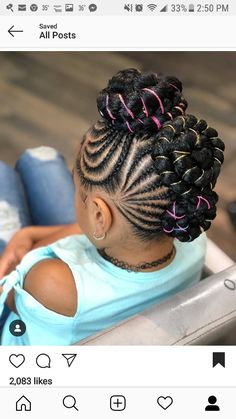 braids jacksonville fl, cornrows hairstyles braids pictures, lemonade braids for little girls, pictures of braids and ponytails, updos with braids. Little Girl Braid Styles, Kid Braid Styles, Little Girl Braids, Black Girl Braids, Braids For Kids, Braids For Black Hair, Girls Braids, Lil Girl Hairstyles, Black Kids Hairstyles
