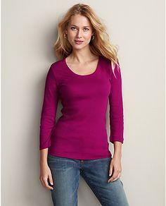 Favorite 3/4 Sleeve Scoop-Neck T-Shirt #eddiebauer