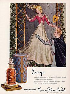 """Milena Pavlović-Barili, Brand: Mary Dunhill (Perfumes) """"Escape"""", 1943"""