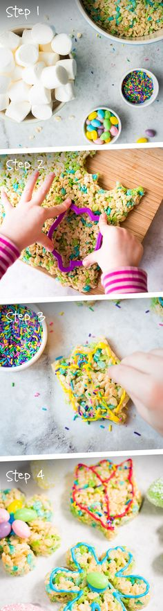 Let the flowers bloom! These are a great crafty-treat to make with kids. Try using Rice Krispies® Spring Edition cereal to easily add speckles of colour.