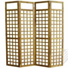 4 oldalú paraván | tömör akácfa spanyolfal 160 x 170 cm Room Deviders, Bamboo Roman Shades, Wooden Trellis, 4 Panel Room Divider, Sala Grande, Folding Room Dividers, Bedroom Red, Oasis, Lattice Design
