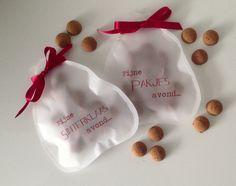 Zak van Sinterklaas snoepzakje gevuld met pepernoten!